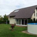 UV-Schutz- Glasfassade Einfamilienhaus