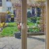 Vogelschutzstreifen 75mm breit auf Glas, Innenansicht , semaSORB PROBIRD DK400 Tape