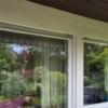 Fenster mit 75mm breiten Tape 400 Streifen, Außenansicht