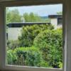 Fenster mit 75mm breiten Tape 400 Streifen, Innenansicht